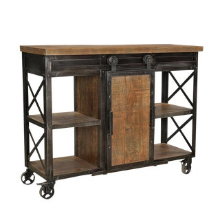 Industrial Farmhouse Shelf / Cabinet For Sale