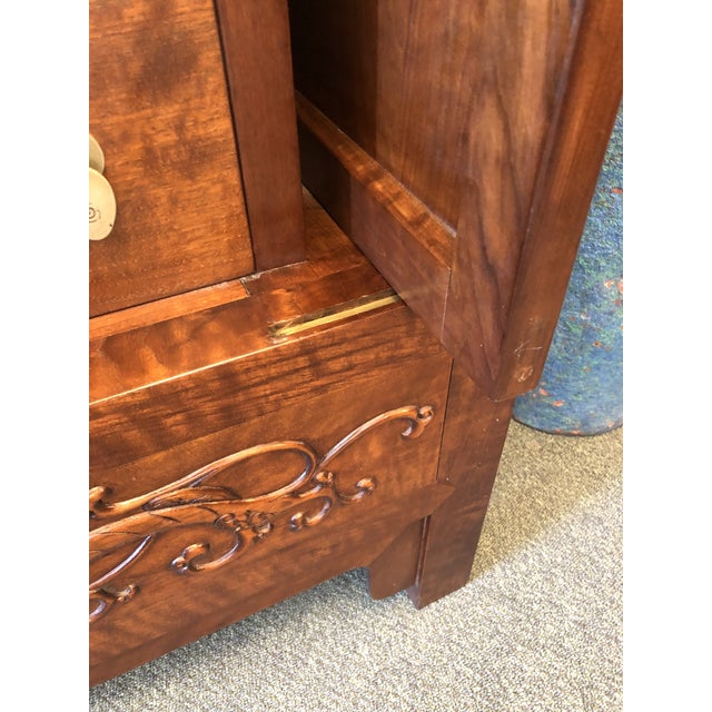 Asian Style Walnut Bar or Media Armoire For Sale - Image 10 of 13