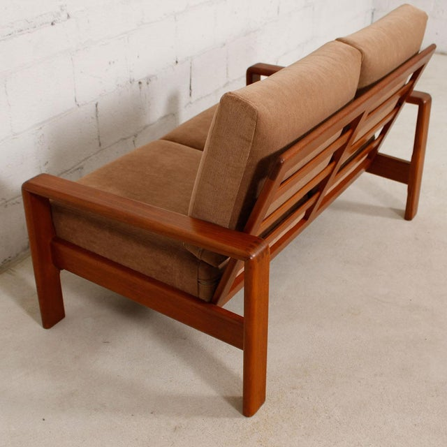 Vintage Teak Loveseat with New Upholstery - Image 5 of 10