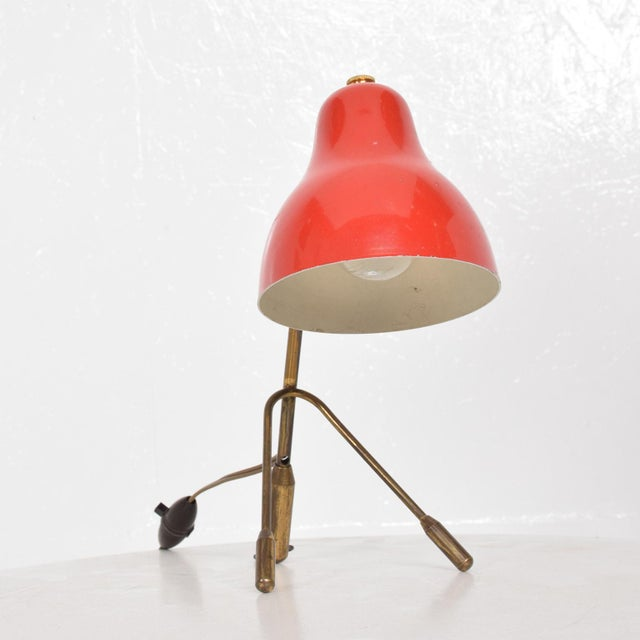 1960s Mid Century Italian Modern Red Table Lamp -Wall Sconce For Sale - Image 5 of 6