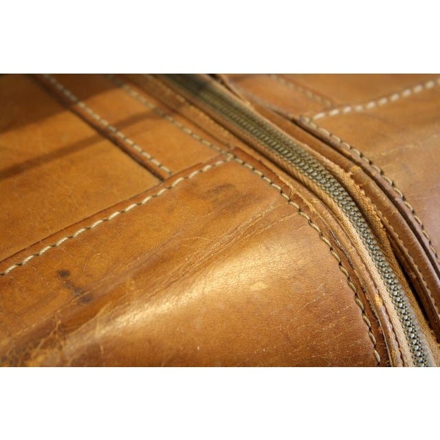 Traditional Vintage Leather Luggage Bag For Sale - Image 3 of 3