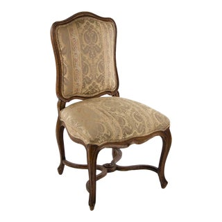 Late 19th Century Vintage Louis XV Style Upholstered Side Chair For Sale