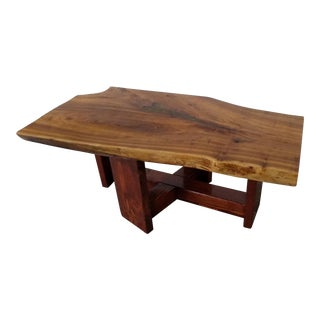 Traditional Red Elm Slab Coffee Table