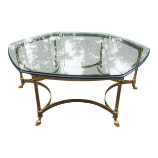 La Barge Hoof Foot Octagonal Coffee Table