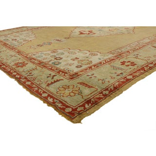 Antique Turkish Oushak Area Rug With Arts & Crafts Neoclassic Style - 09'03 X 11'10 Preview
