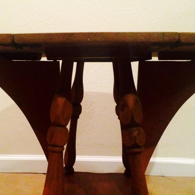 Antique Gate Leg Side Table - Image 5 of 8