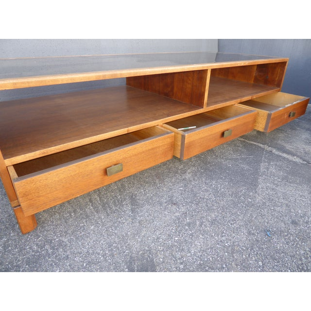 Vintage Danish Mid Century Modern Walnut Coffee & End Table - Set of 2 For Sale - Image 12 of 13