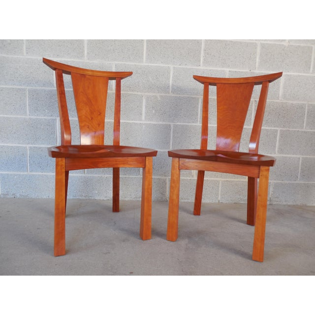 Thos. Moser Cherry Edo Dining Chairs - A Pair - Image 2 of 6