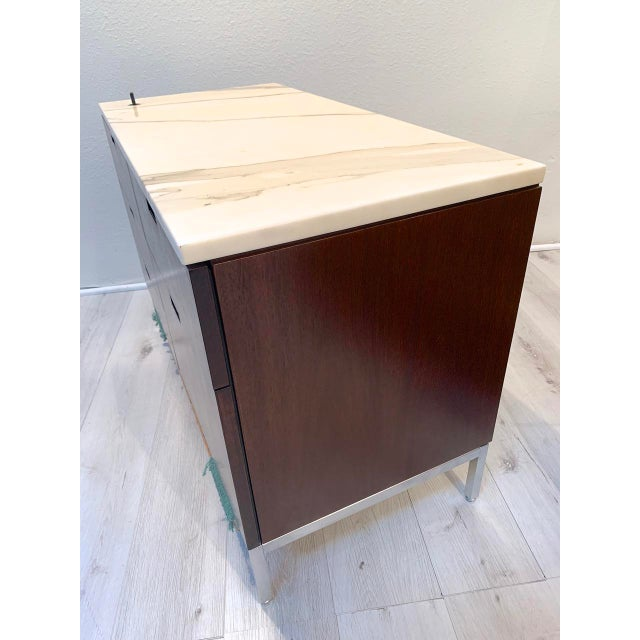 """Knoll Knoll """"Florence"""" Office Credenza With Calacatta Borghini Marble Top For Sale - Image 4 of 13"""