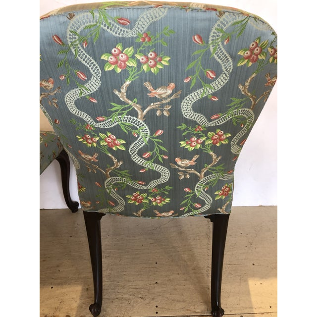 18th Century Georgian Side Chairs Dressed Up in Scalamandre Upholstery -A Pair For Sale - Image 10 of 13