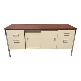 Mid Century Modern Steelcase Credenza For Sale
