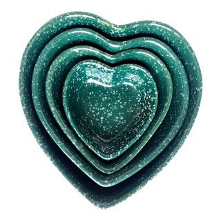 Ceramic Heart-Shaped Bowls - Set of 4 For Sale