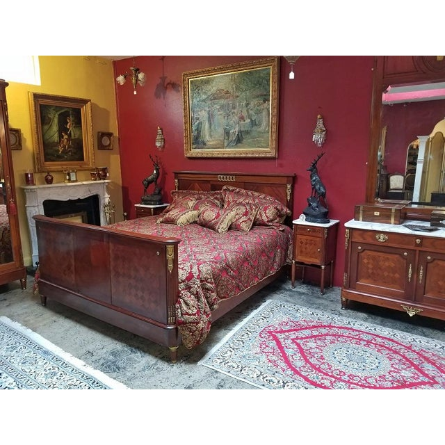 19c French Louis XVI Style Complete Bedroom Set For Sale - Image 10 of 12