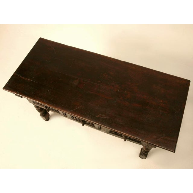 Spanish Console/Sofa Table with Three Deep Drawers For Sale - Image 9 of 10