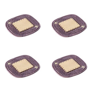 Square Coasters Lilac - Set of 4 For Sale
