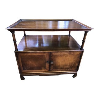 Frederick Tibbenham Ipswich England Chinese Chippendale Side Table Or Bar With Cabinets