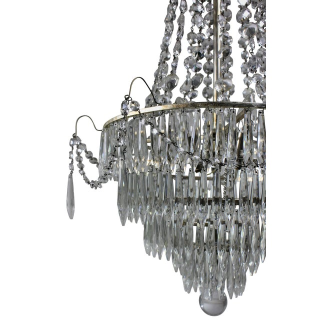 Art Deco Pair of Swedish Chandeliers For Sale - Image 3 of 4