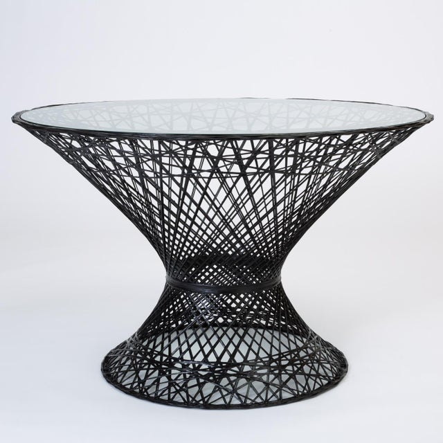 Mid-Century Modern Spun Fiberglass Patio Dining Table by Woodard Furniture For Sale - Image 3 of 7