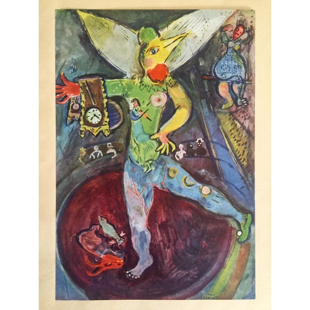 """Marc Chagall Vintage 1947 Rare Limited Edition French Lithograph Print """" L' Acrobate """" For Sale - Image 11 of 12"""