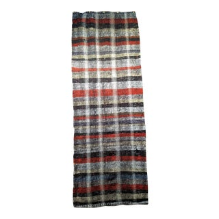 "1950s Vintage Turkish Kilim Runner Rug - 3′ 1"" × 8′ 4″ For Sale"