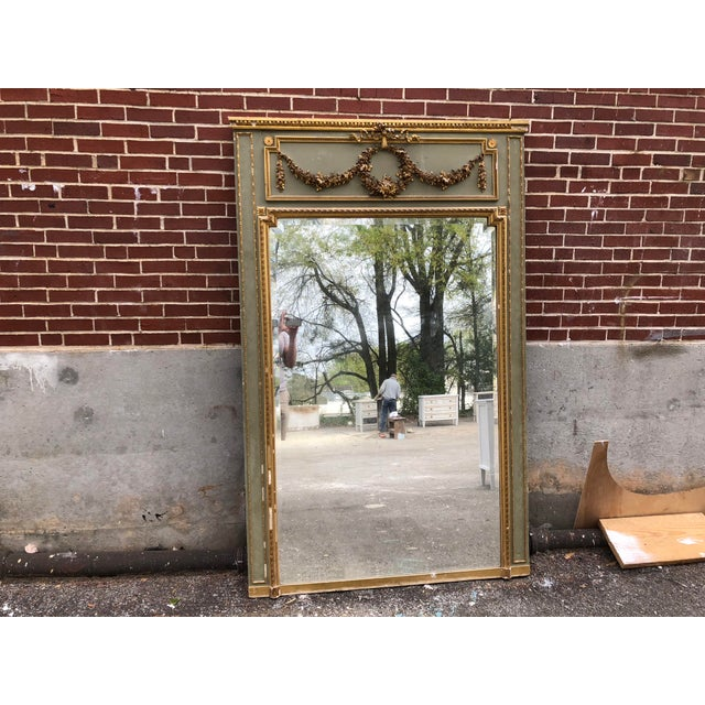 18th C. French Louis XV Trumeau Mirror For Sale - Image 4 of 9
