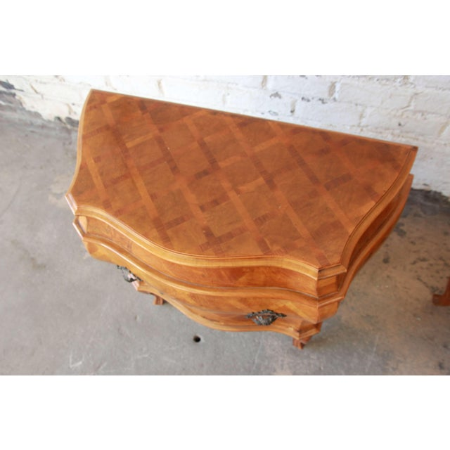 Inlaid Italian Bombay Chest Nightstands - a Pair For Sale In South Bend - Image 6 of 12