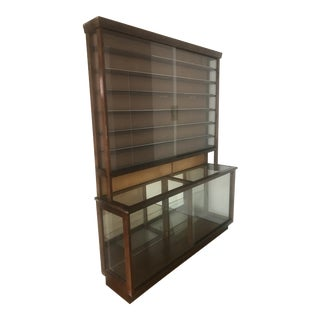 Walnut & Glass Collection Display Case