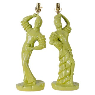 Emil Bertolozzi Flamenco Dancer Lamps - A Pair For Sale