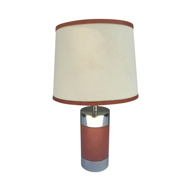 Ralph Lauren Home Chrome & Leather Accent Lamp - Image 1 of 7