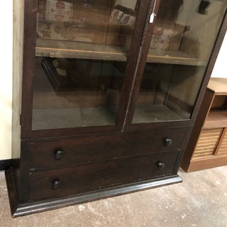 Antique English Glass Front Cabinet Preview