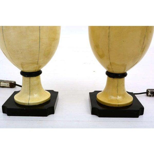 White Christian Fersen Table Lamps, Hollywood Regency Era For Sale - Image 8 of 9