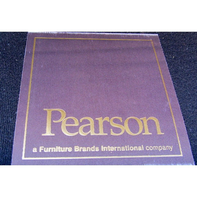 Animal Skin Pearson Chestnut Leather Sofa with Brass Nailhead Trim For Sale - Image 7 of 8