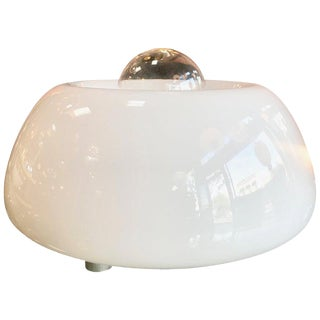 Flos Space Age White Hand Blown Murano Glass Table Lamp, Italy For Sale