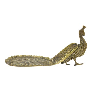 1950s French Bronze Peacock Tray For Sale