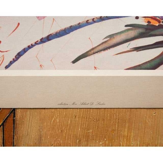 XL 1954 Dali, Dragonflies Original Period Lithograph From From the Mrs. Albert D. Lasker Collection For Sale - Image 9 of 13