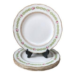 Late 19th Century Davis Collamore & Co. Porcelain Salad/ Dessert Plates - Set of 5 For Sale