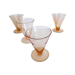 Pink-Copper Parfait Glasses - Set of 4
