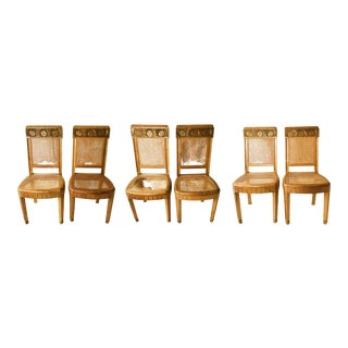 French Art Deco Side Chairs - Set of 6 For Sale