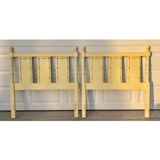 1960s Vintage Regency Style Twin Faux Bamboo Headboards - A Pair Preview