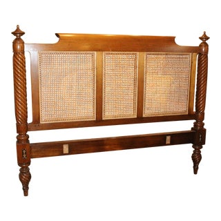 20th Century Art Nouveau Caned Headboard For Sale