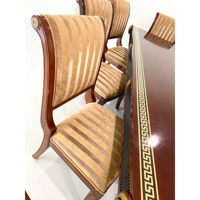 2010s Custom Furniture Builders Versace Style Dining Set-Set of 9 For Sale - Image 5 of 13