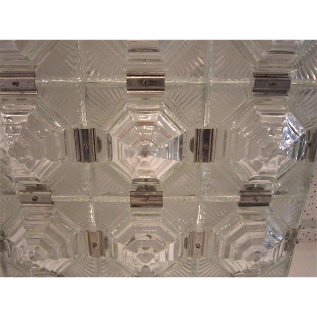 Art Deco Revival Flush Mount Glass Ceiling Squares - 2 Available For Sale - Image 10 of 13