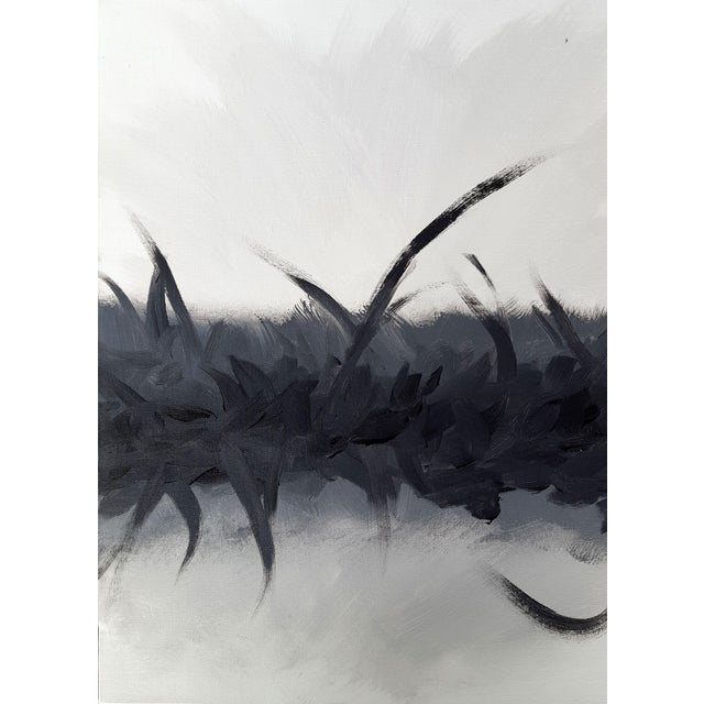 """""""Bliss in Black"""" Modern Expressive Abstract Art Painting - Image 3 of 4"""