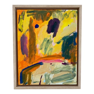 Yellow Part of the Woods Painting, Framed