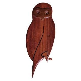 Vintage Owl Wooden Puzzle