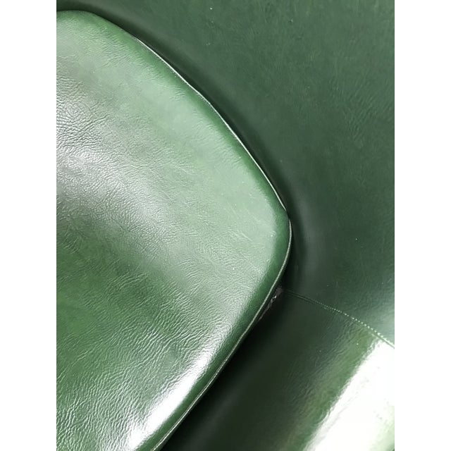 Mid-Century Modern Dark Green Leatherette Tandem Seat For Sale - Image 12 of 12