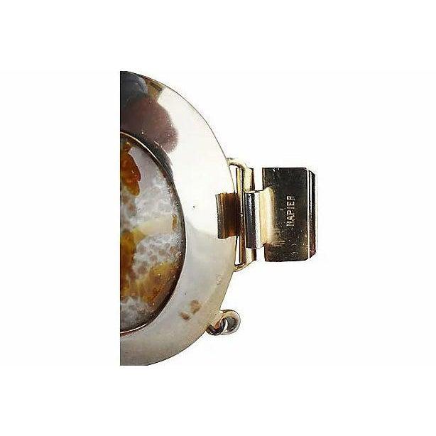 Napier 1960s Napier Faux-Agate Cabochon Bracelet For Sale - Image 4 of 7