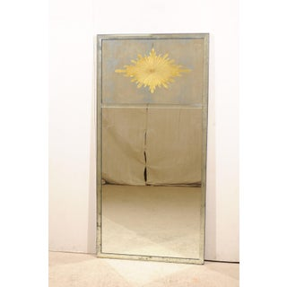 Tall Verre Églomisé Starburst Mirror With Two Panels Preview