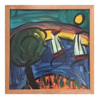 Peter Keil Landscape Sailboats and Rainbows