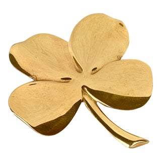Vintage Gold Four Leaf Clover For Sale